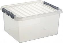 Kunststoff-Box 36 Liter, DIN A3, transparent, 500 x 400 x 260 mm,