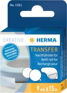 Nachfüllrolle HERMA transfer 15m x 9 mm, ablösbar und abrubbelbar