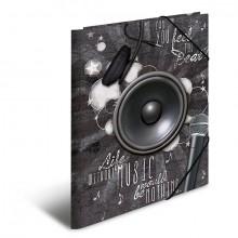 Sammelmappe A4 Music, PP mit Gummizug, 3 Innenklappen