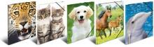 Sammelmappe A4 Tiere sortiert 5 Motive, PP