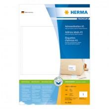 Adressetiketten Premium A5 148,5x205mm, weiß, Papier matt
