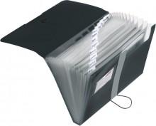Herlitz Fächermappe in schwarz mit 12 Fächern