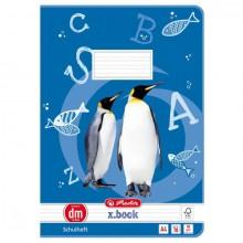 Heft A4, 16 Blatt, 80g, LIN dm liniert, FSC Mix, Pinguin