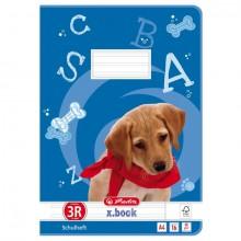 Heft A4, 16 Blatt, 80g, LIN 03/R liniert m.R., FSC Mix, Hund