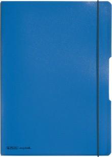 Notizheft flex PP, liniert + kariert (je 40 Blatt), Papier 80g, blau,