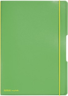 Notizheft flex PP, liniert + kariert (je 40 Blatt), Papier 80g, hellgrün,