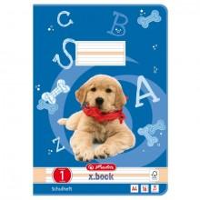 Heft A4, 16 Blatt, 80g, LIN 01 liniert, FSC Mix, Hund