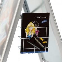Drahthängekorb für Prospekte A4 Zubehör für Kundenstopper