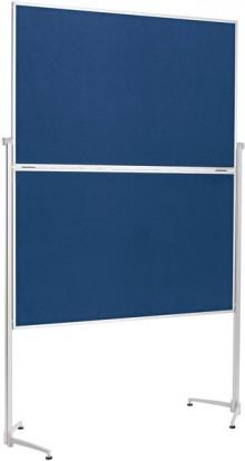 Moderationstafel Klappbar 1500x1200mm Alurahmen, Filz blau