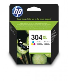 Tintenpatrone HP 304XL dreifarbig für DeskJet 26XX, 37XX, Envy 50XX