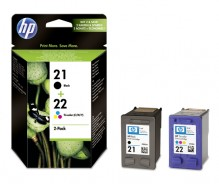 Multipack Tintenpatrone Nr.21/22 schwarz/farbig für Deskjet 3900