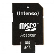 Micro-SDHC Speicherkarte 8GB 10MB/s Class 10, mit SD-Adapter