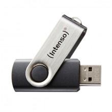Speicherstick Basic Line USB 2.0 schwarz-silber, Kapazität 64GB