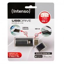 Speicherstick iMobile Line, Super Speed USB 3.0, 32GB, schwarz,