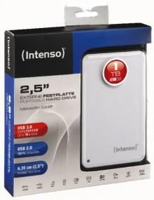"""Portable Festplatte 2,5"""" USB 3.0 weiß, Speicherkapazität 1 TB"""