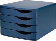Schubladenbox Re-Solution matt blau 4 Schübe geschlossen