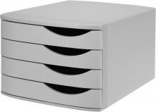 Schubladenbox Re-Solution matt grau 4 Schübe geschlossen