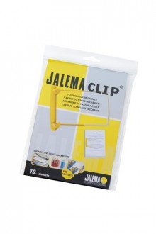 Abheftbügel, Clip gelb, flexibler Heftmechanismus, Blättern wie im Buch