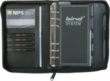 Bind Systemplaner A6 Nappaleder sw ohne Kalender, mit Reißverschluss