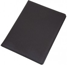 Schreibmappe BALOCCO schwarz Polyester mit Tagegriff, Schulterriemen,