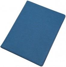 Schreibmappe BALOCCO blau Polyest mit Tagegriff, Schulterriemen,