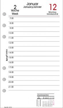 Bind Tageskalender A6 2021 1 Tag = 1 Seite 3-sprachig