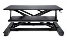 Sitz-/Stehtisch SmartFit, schwarz 900mm breite Haupttischfläche,