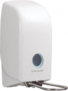 Seifenspender Aquarius mit Armhebel, für 1 Liter Kartusche,weiß,Kunststoff