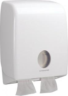 Toilettenpapierspender Doppel für Einzelblatt, weiß, Aquarius