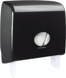Toilettenpapierspender Midi Jumbo schwarz, Aquarius, Kunststoff
