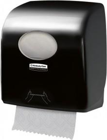 Handtuchspender für Rollen Aquarius Slimroll, schwarz, Kunststoff