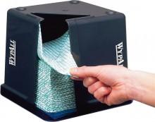 Spender Wypall für viertelgefaltete Wischtücher, graublau-transparent