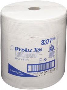 Wischtücher WYPALL X80, Rolle, weiß f. Spender 6146, 6154, 6155