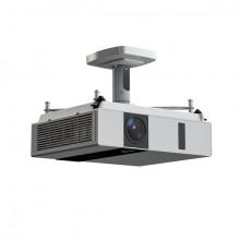 Projektor-Halterung Comfort 10, silber, Abstand Projektor/Decke 13 cm