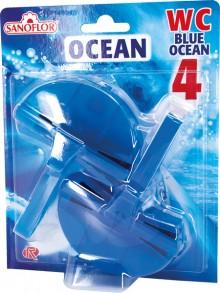 WC-Einhänger Blue Ocean, 2x40g, 4-fach Wirkung, blaues Wasser