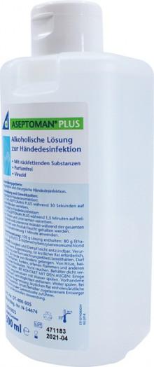 Aseptoman Plus alkoholisches Hand- desinfektionsmittel, 500ml