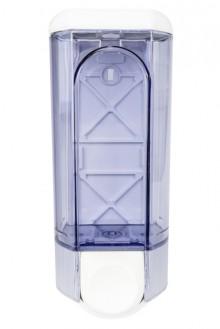 Seifenspender Kunststoff, weiß/ transparent, 800 ml frei nachfüllbar