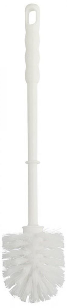 WC Bürste Plastik Nylon, weiß ca. 40 cm lang