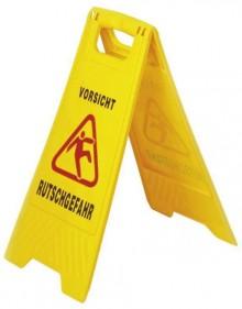 """GVS-Warnschild """"Achtung/Vorsicht Rutschgefahr"""", zweiseitig bedruckt"""