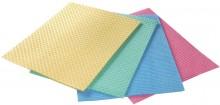 Schwammtuch 18 x 20 cm Aqua, farbig sortiert