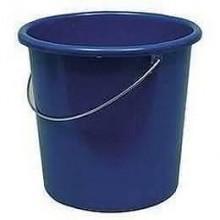 Plastikeimer 5 L mit Metallbügel in blau