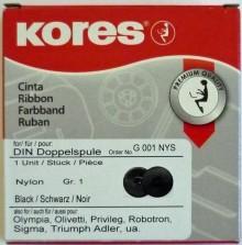 Farbband Gr. 1 schwarz für DIN Doppelspule