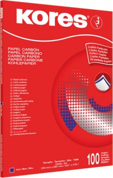 Durchschreibepapier, blauschreibend, DIN A4, 100 stk.