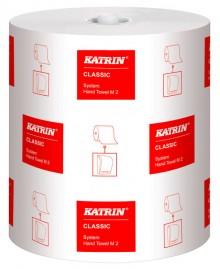 Handtuchrolle Katrin Classic M2, 6 System Rolle weiß 21 cm x 160 m