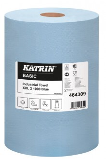 Putzrolle Katrin Basic XXL 2 blue 1000 Bl.,2 lg.2x360m Blatt 38x36cm