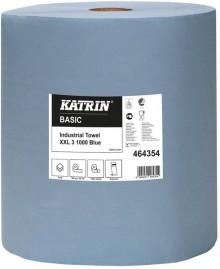 Putzrolle Katrin Basic XXL 3 blue 1000 Bl., 3 lg. 360m Blatt 38x36cm