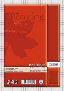 Briefblock, DIN A5, 50 Blatt 70g/qm, 5mm karriert, kopfgeleimt,
