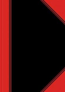 China-Kladde, A4, kariert,96 Blatt Papier 70 g/qm, schwarz/rot