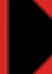China-Kladde, A6, kariert,96 Blatt Papier 70 g/qm, schwarz/rot