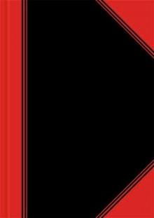 China-Kladde, A5, kariert,96 Blatt Papier 70 g/qm, schwarz/rot